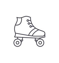 roller skates line icon concept roller skates vector image