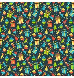 seamless bright fun celebration festive pattern vector image