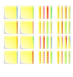 Set of Postit Labels With Decorative Border vector