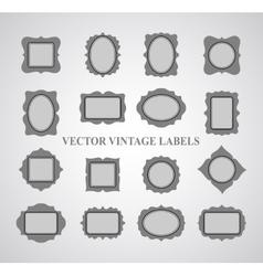 Set of vintage frames and design elements vector image