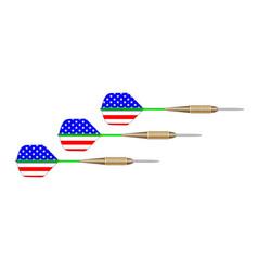 stars and stripes dart set vector image