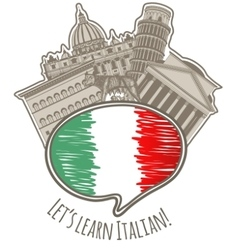 Studying Italian language label vector