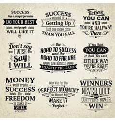 Success quotes set vector image