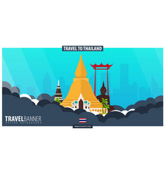 Thailand time to travel banner vector