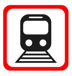 Train icon metro and tram railroad symbol vector