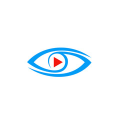 Video play eye logo vector