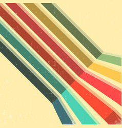 Vintage color lines background vector