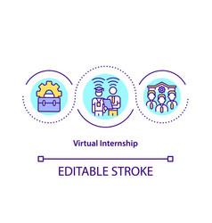 Virtual internship concept icon vector