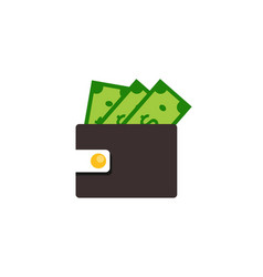 wallet icon design vector image