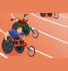Wheelchair race vector