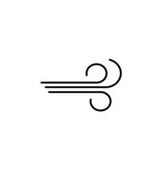 wind icon black vector image
