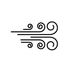 wind icon design template vector image
