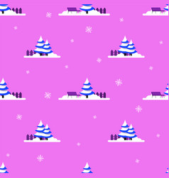 winter seamless patter vector image