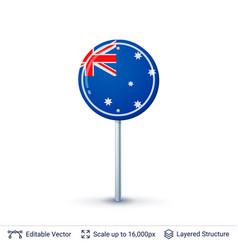 australia flag isolated on white vector image vector image