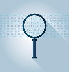 Big data Binary data search vector image