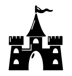 castle building icon simple style vector image