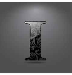 Letter I vector image vector image