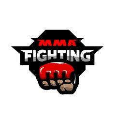 mma fighting logo vector image vector image