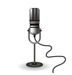 retro microphone icon vector image