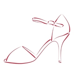 Sketched woman s shoe vector image vector image