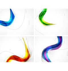 Wave pattern set vector image