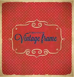 Aged vintage polka dot frame vector image vector image