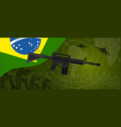 brazil military power army defense industry war vector image vector image