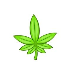 Cannabis leaf icon cartoon style vector