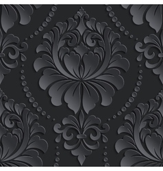 damask seamless pattern element Elegant vector image