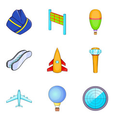 locator icons set cartoon style vector image vector image
