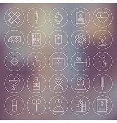 Medical Circle Health Care Icons Set vector image