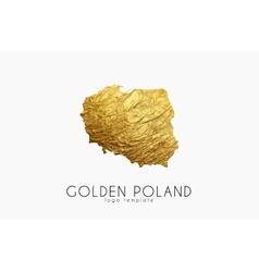 Poland map Golden Poland logo Creative Poland vector image vector image