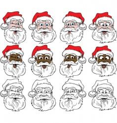 Santa's face vector image vector image