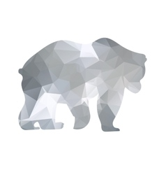 Silhouette a bear of geometric shapes vector image vector image