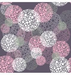 Abstract seamless polka dot circles pattern vector image vector image