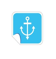 anchor blue vector image