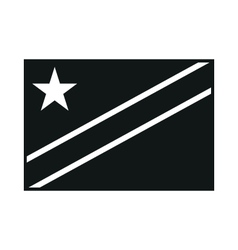 Democratic Republic of Congo Flag monochrome on vector image
