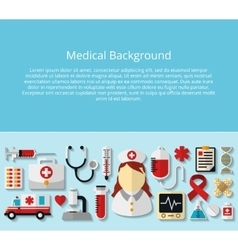 Health care and medical background vector image vector image
