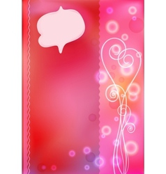 Pink greeting cards for Valentines day vector image vector image