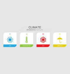 4 climate icons vector