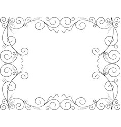 A decorative frame from tendrils and swirls vector