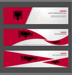Albania independence day abstract background vector