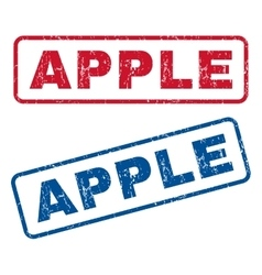 Apple Rubber Stamps vector