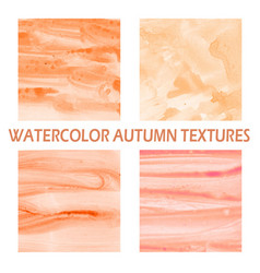 autumn watercolor background vector image