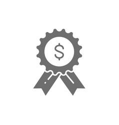 Award loan best loan grey icon vector