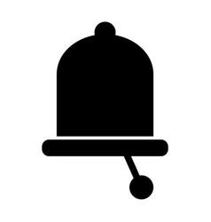 Bell solid icon alarm vector