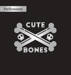 Black and white style icon cross bones vector
