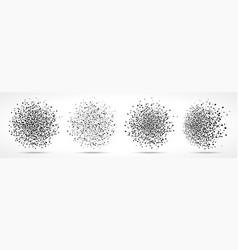 Blobs dots pattern set blots dot backgrounds vector