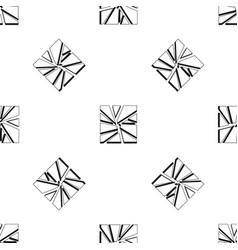 broken glass pattern seamless black vector image