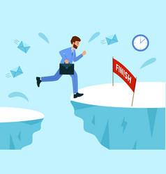business competition a race for success business vector image